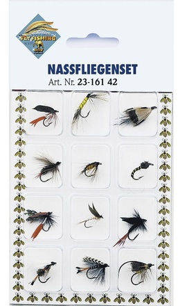 Behr Wet flies on card, 12 pcs!