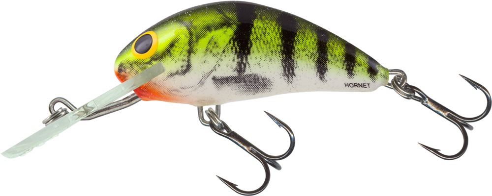 Salmo Hornet Floating 4cm - Lime Perch