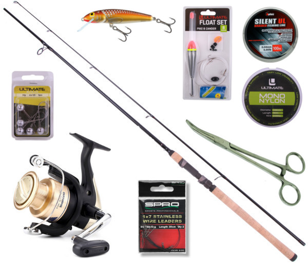 Allround 240 Spin Set with Ultimate rod, Shimano reel and accessories