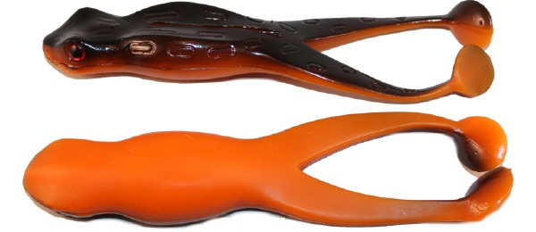 "Tournament Baits Frog 3"", 3 pcs! (6 options) - Black Orange"