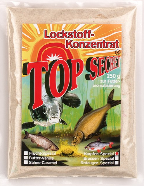 Top Secret Groundbait Concentrate 250 g (9 options) - Top Secret Concentrated Attractant 250g - Carp Special:
