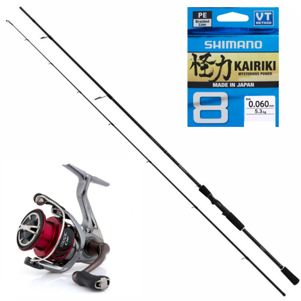 Shimano Yasei Zander Set with Stradic reel and Kairiki Braid
