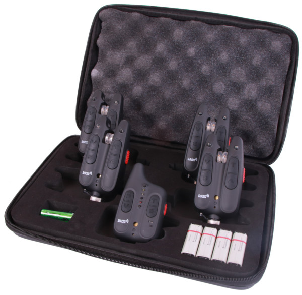 Carp Sonar Tactical Bite Alarm 4+1 Set including Swingers