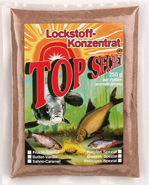 Top Secret Groundbait Concentrate 250 g (9 options) - Top Secret Concentrated Attractant 250g - Peanut Special: