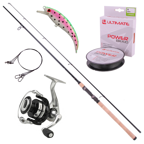 Ultimate Allround Spinning Set for fishing with artificial lures!