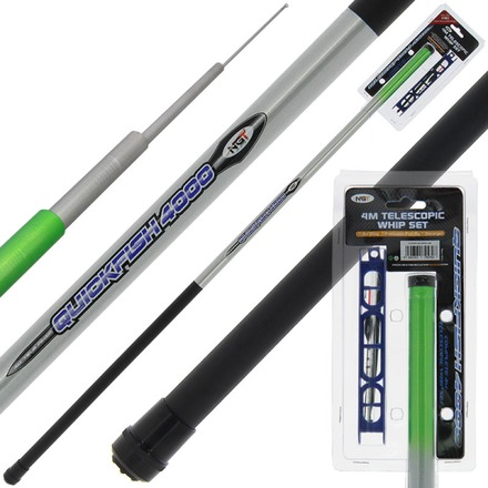 NGT Quickfish Combo - 4 m Whip, Rig & Disgorger