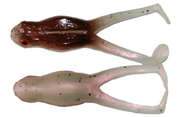 "Tournament Baits Frog 3"", 3 pcs! (6 options) - Brown Pearl"