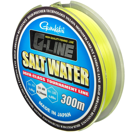 Gamakatsu G-Line Salt Water Fluo Yellow 300 m (7 options)