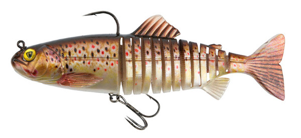 Fox Rage Replicant Super Natural Trout Jointed & Wobble - Jointed Brown Trout: