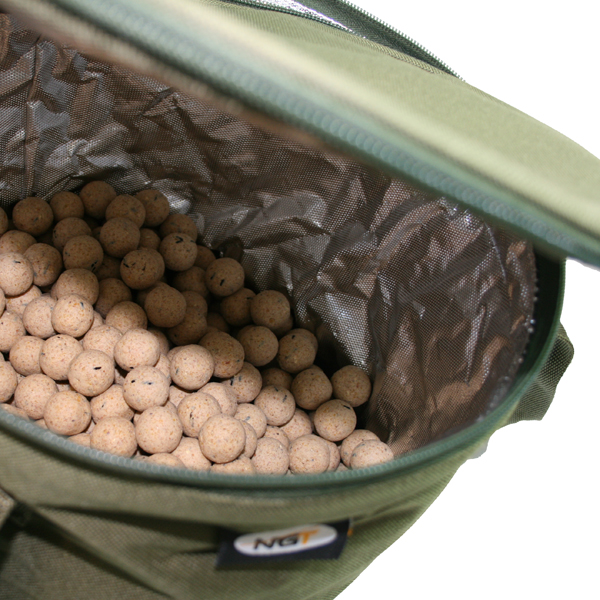 NGT Collapsible Bait Bin with zipper