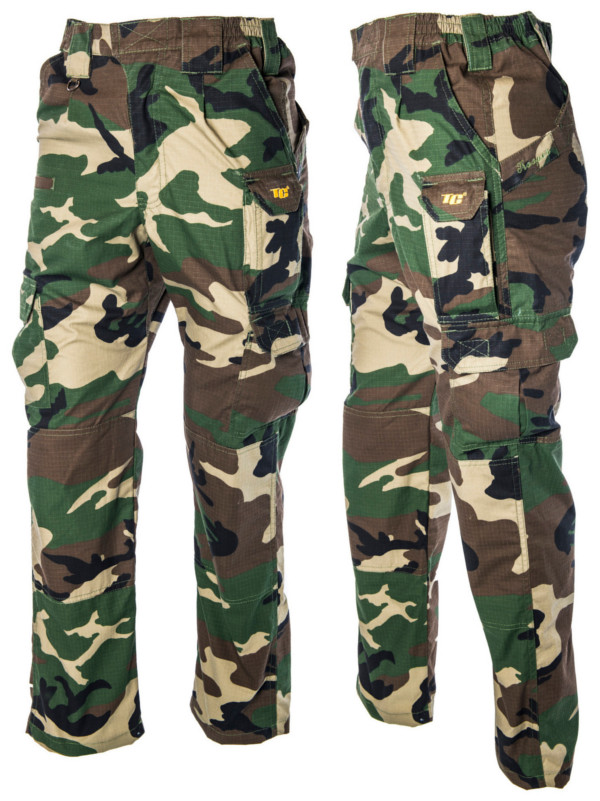 Tactic Carp Trooper Combat Trousers in Green or Camo - Camo