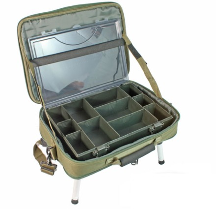 NGT Deluxe Table System including tackle box
