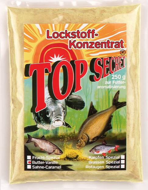 Top Secret Groundbait Concentrate 250 g (9 options) - Top Secret Concentrated Attractant 250g - Butter Vanilla: