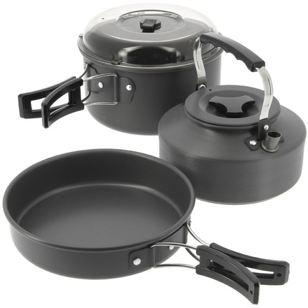 NGT Aluminium kettle, pot and pan set