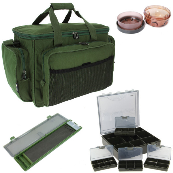 Carp Carryall Kit with Tackle Box, Dip Pots, Bit Boxes and more!